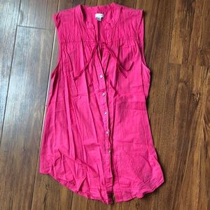 Anthropologie Odille Button Down Tank Top